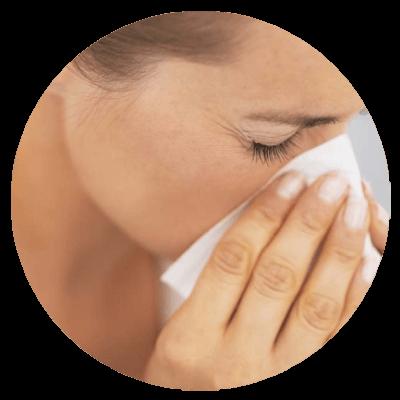 Objawy polekowego nieżytu nosa.